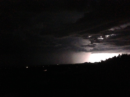 Night storm in Santa Fe