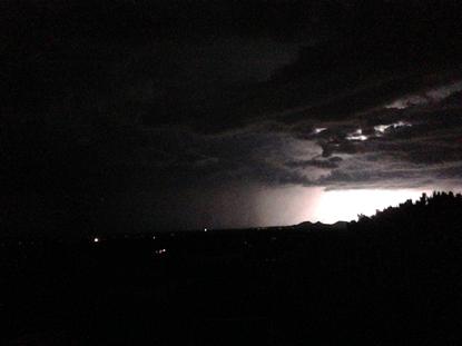 Night storm in Santa Fe