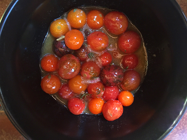 tomatoes in sherry vinaigrette